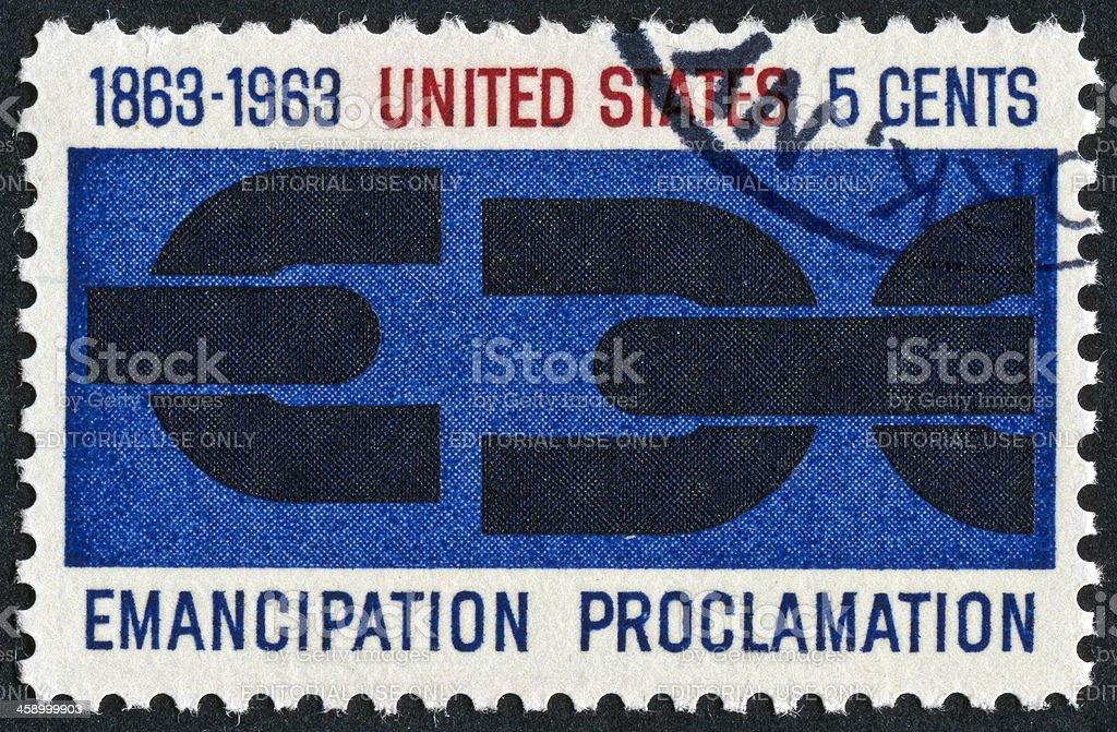 Emancipation Proclamation Stamp royalty-free stock photo