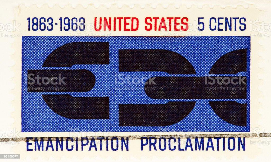 Emancipation Proclamation USA Stamp 1963 royalty-free stock photo