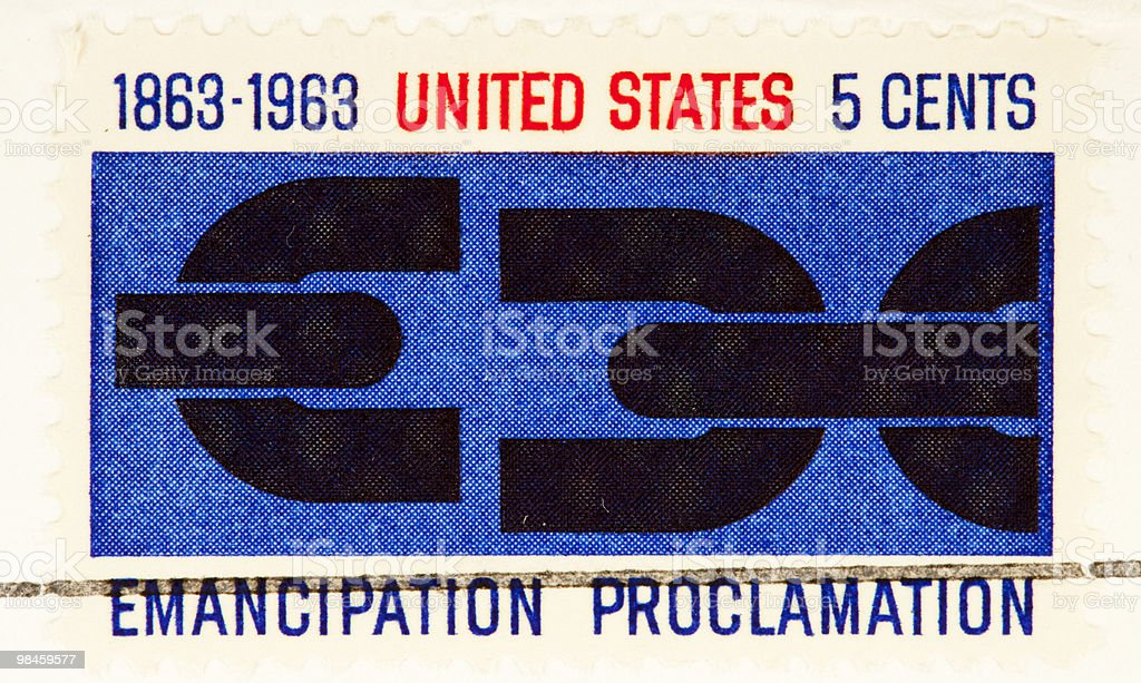 Emancipation Proclamation USA Stamp 1963 stock photo