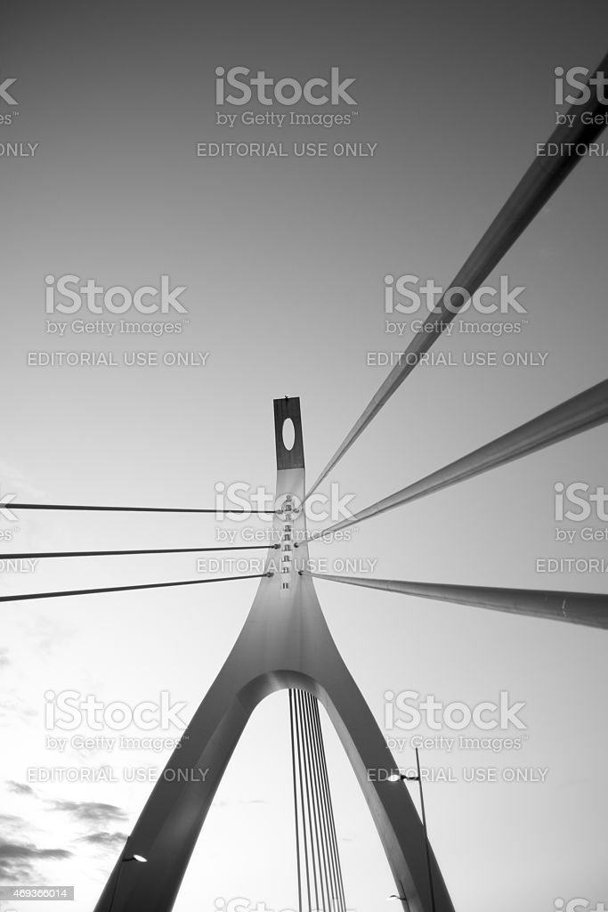 Emanuela Loi bridge in Sardinia stock photo