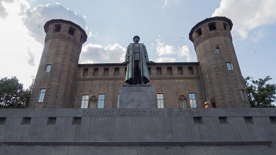 istock Emanuele Filiberto Duca D'Aosta and the Castello Casaforte of the Acaja 1021132976