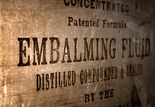 Embalming Fluid stock photo