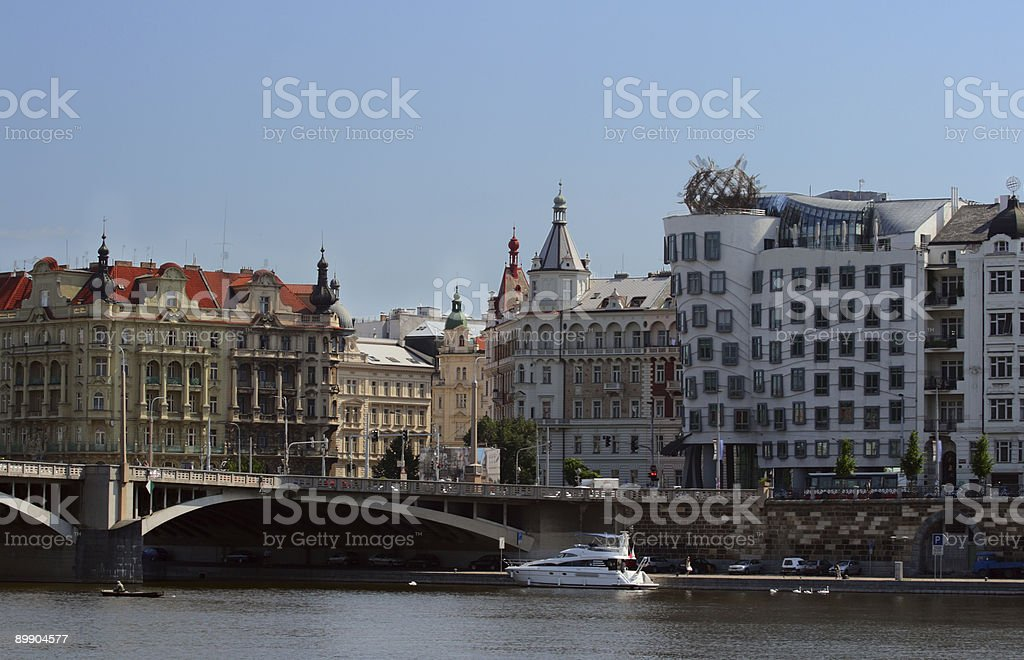 Embankment and part of bridge royalty-free stock photo