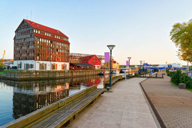 Embankment in Klaipeda of Lithuania stock photo