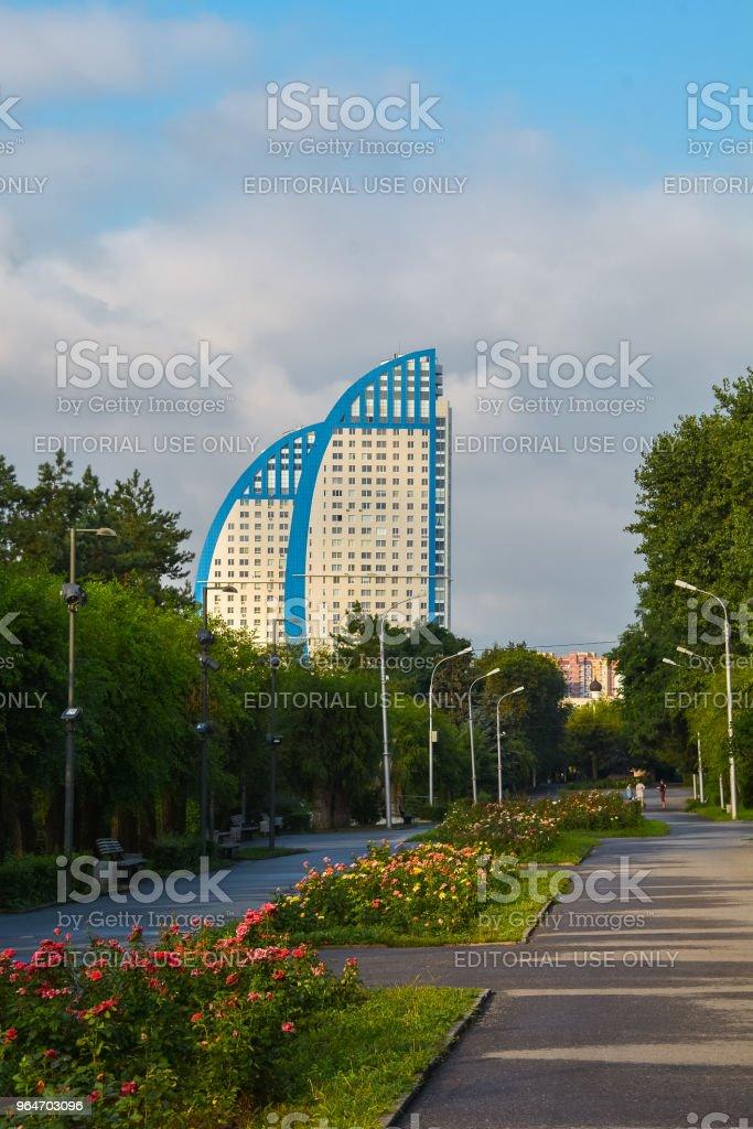 Embankment in Volgograd city royalty-free stock photo