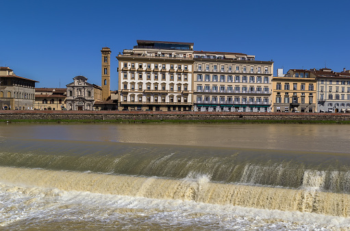 embankment of Arno river, Florence