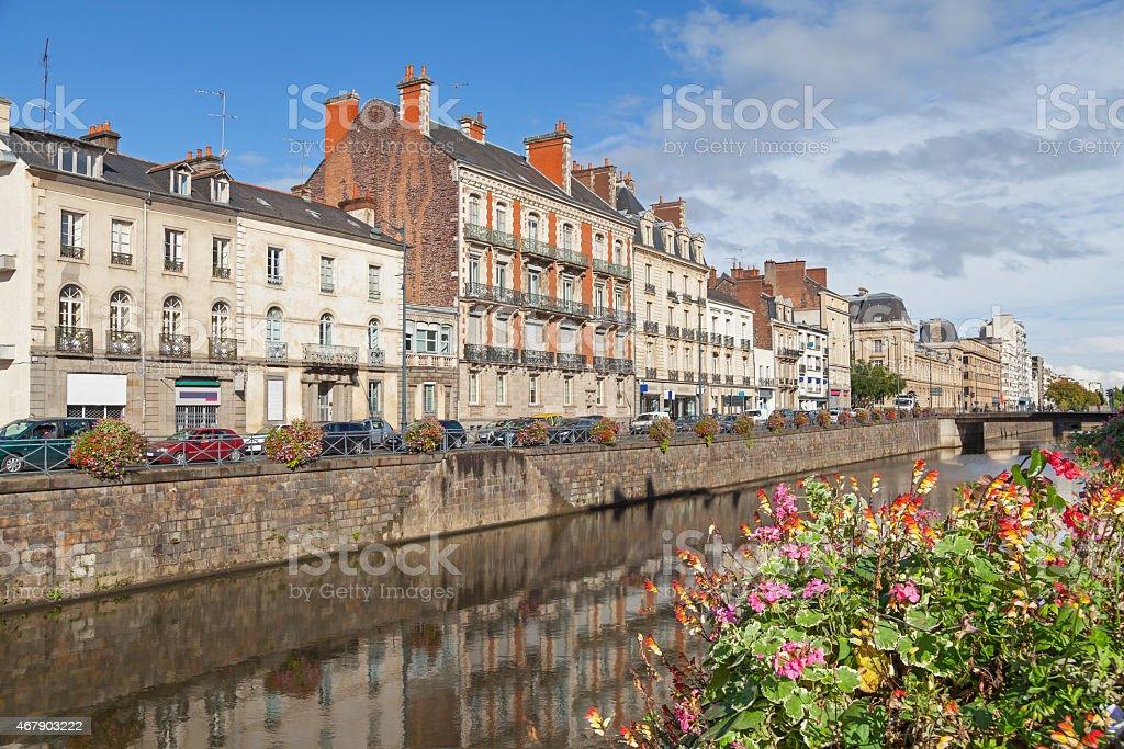 Ufer des Flusses Vilaine in Rennes – Foto