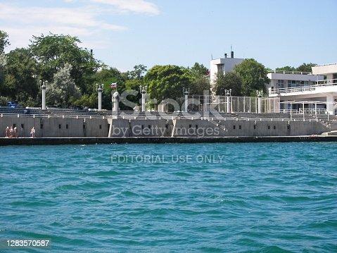 istock embankment of the city of Sevastopol. Architecture near the coastline. 1283570587