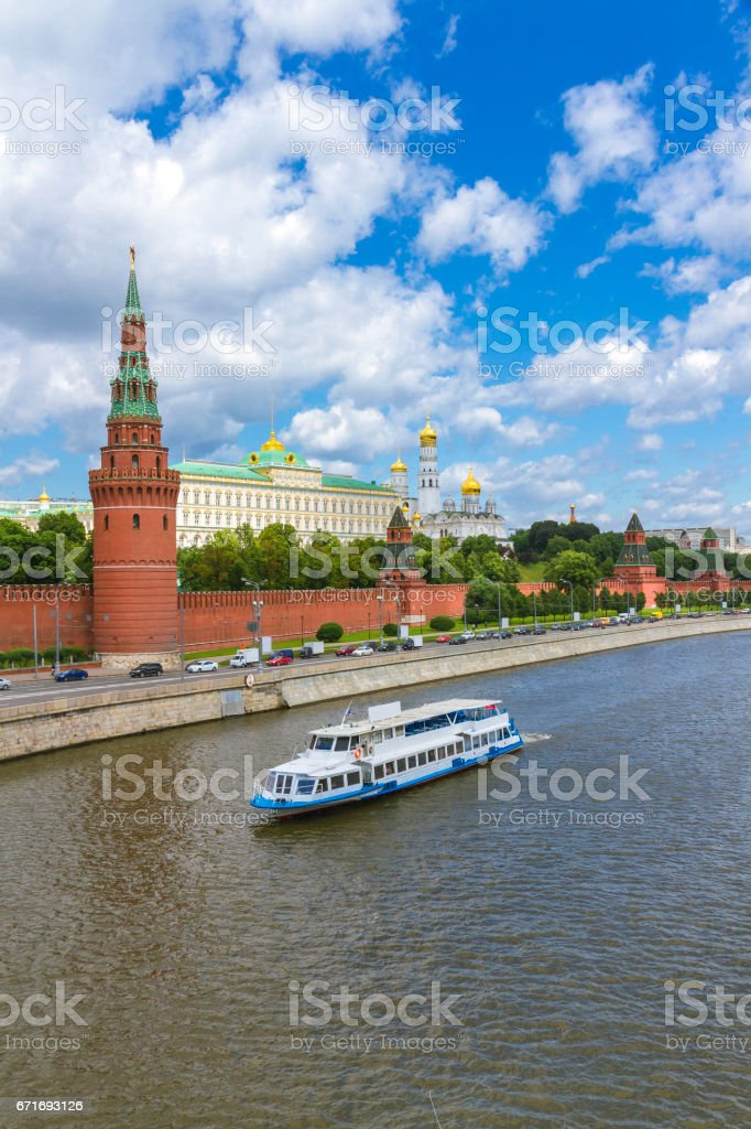 Embankment of the Moscow Kremlin стоковое фото
