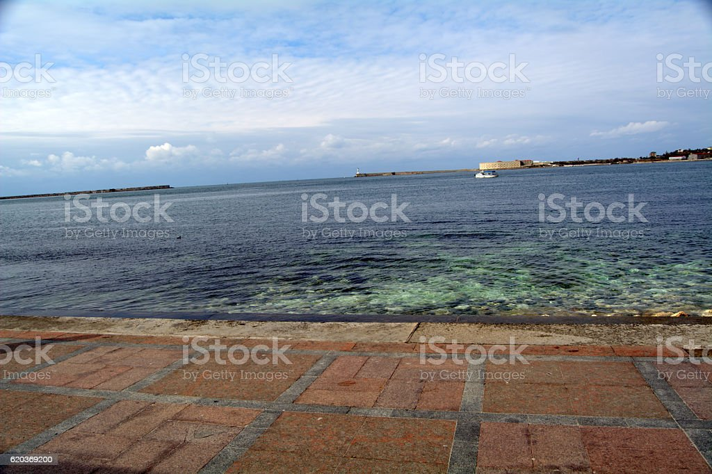embankment, sea foto de stock royalty-free