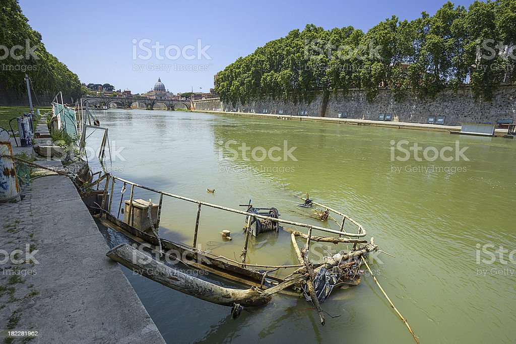 embanment in Rome. Italy. stock photo