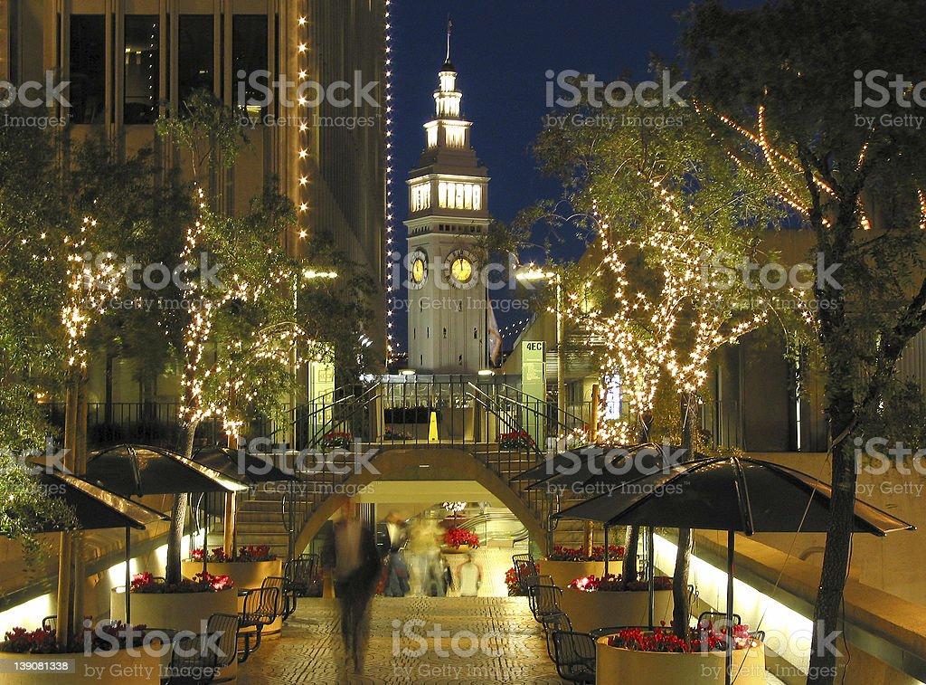 Embarcadero Center lights royalty-free stock photo
