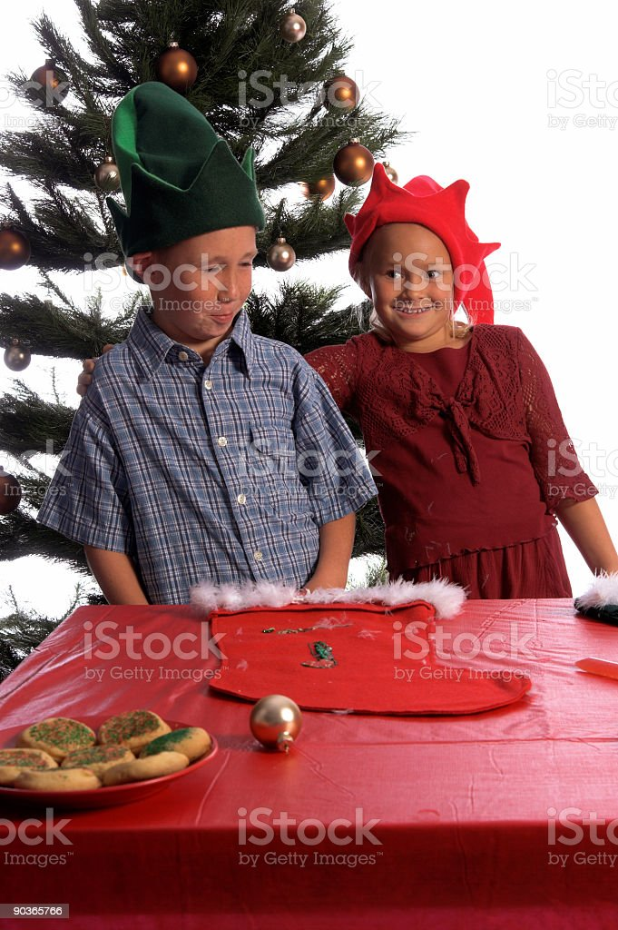 Embarrased Elf stock photo