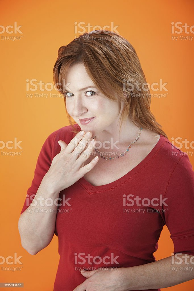Embarrassed Lady stock photo