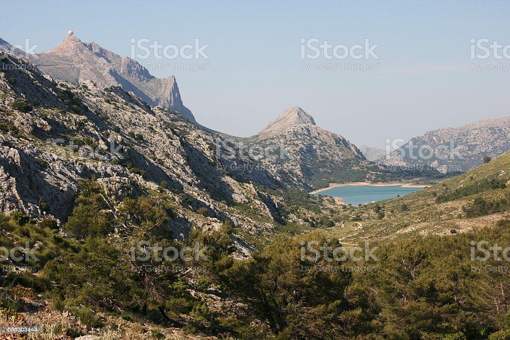 Embassament Cuber on Ruta Pedra en Seco hike, Mallorca, Spain stock photo