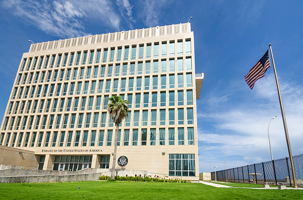Embassy of the United States of America in Cuba stock photo