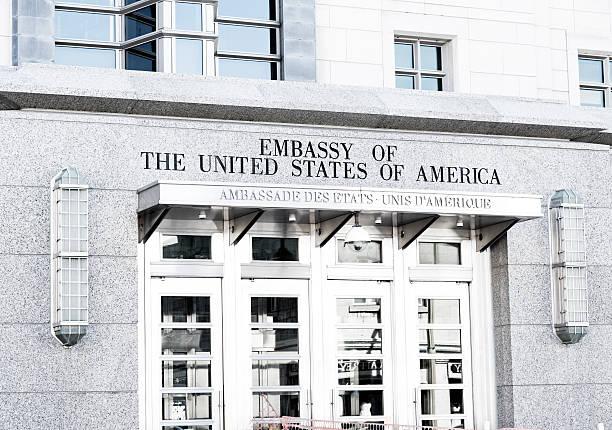 US Embassy, Ottawa, Canada stock photo