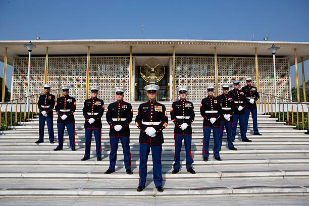 embassy - marines stock photos and pictures