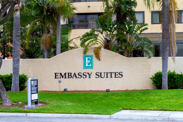 Embassy Suites by Hilton in Orange, California stock photo