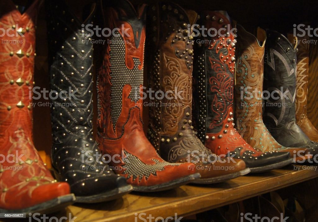 Embellished Western Boots in Dallas, Texas stock photo