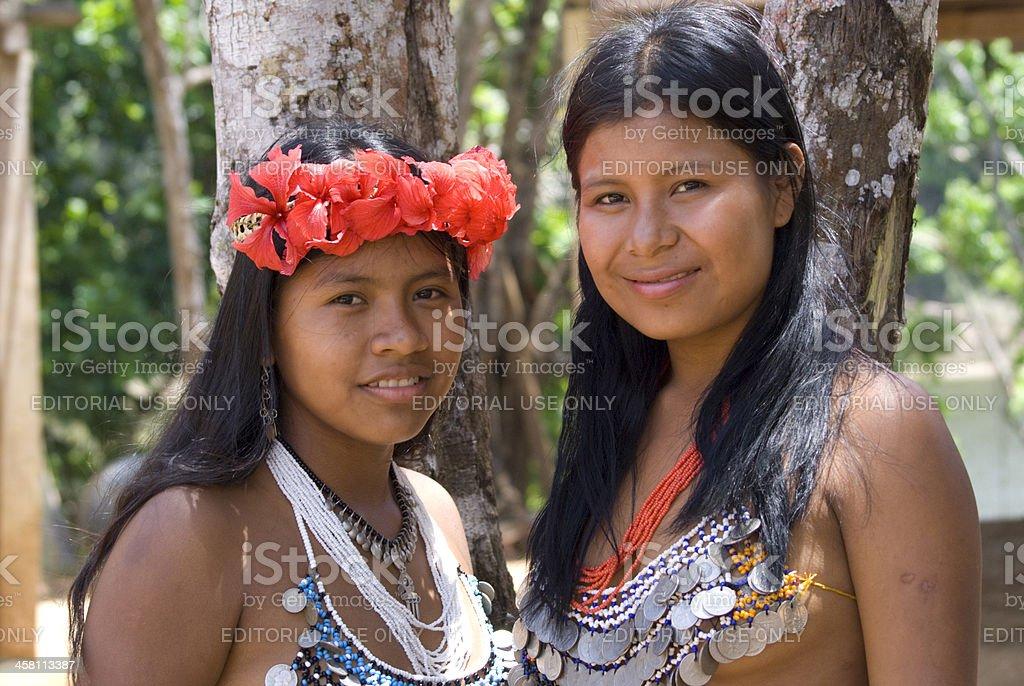 Embera Indian Women stock photo