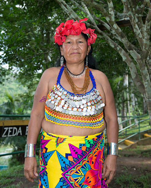 embera old woman - embera indian women stock pictures, royalty-free photos & images