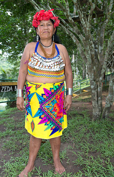 embera woman - embera indian women stock pictures, royalty-free photos & images