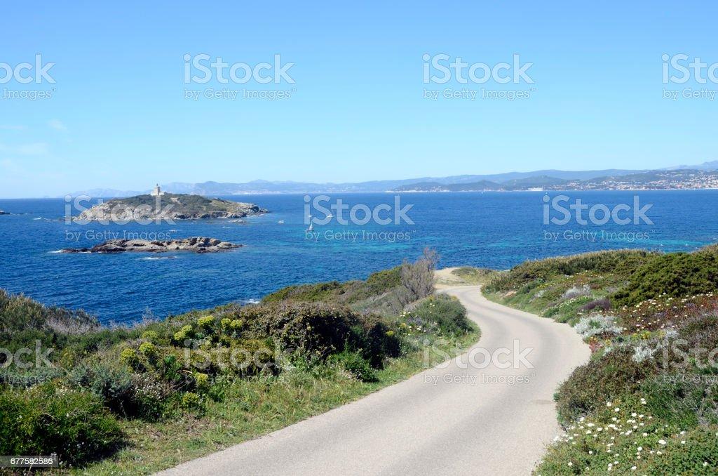 Embiez island landscape, France royalty-free stock photo