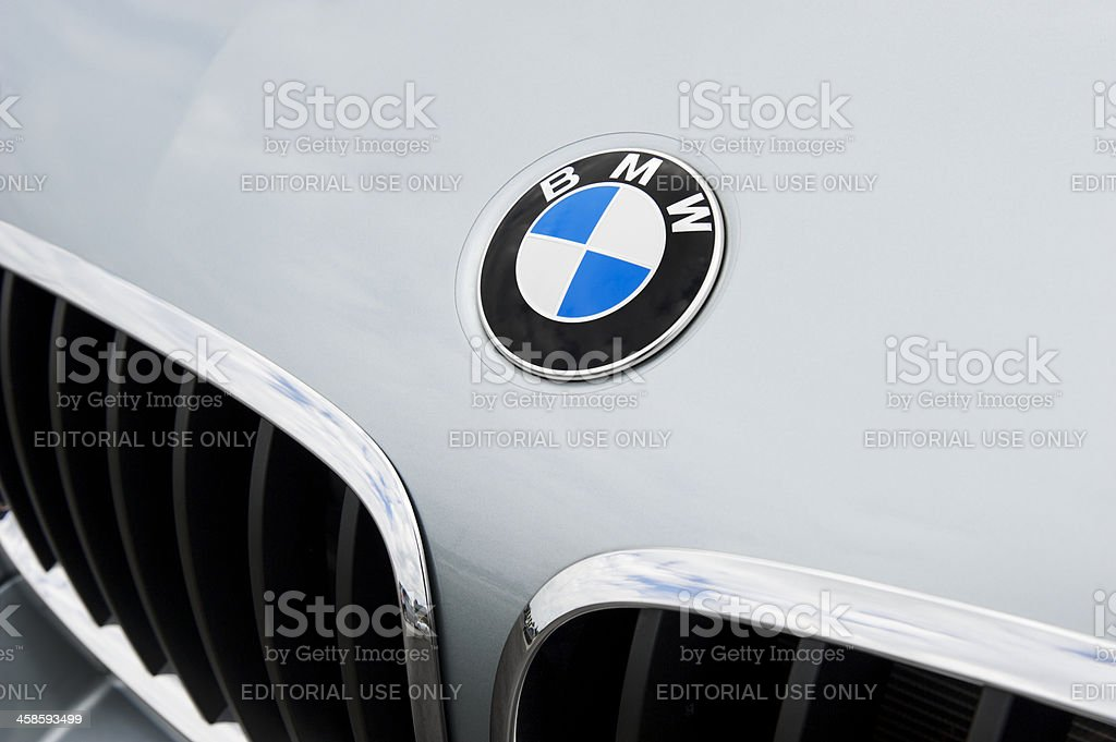 BMW Emblem and Kidney Grille stock photo