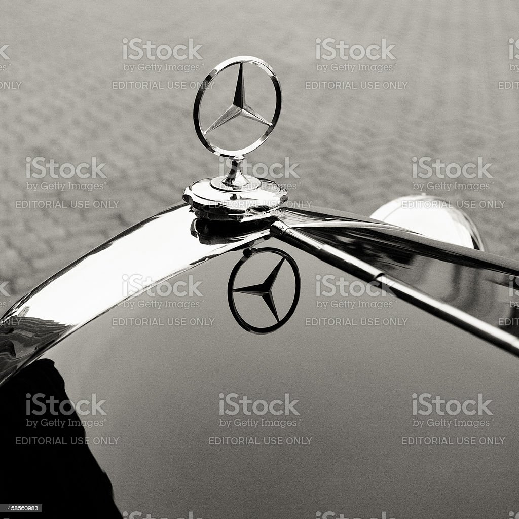Emblem logo on a Mercedes-Benz 1935 200 stock photo