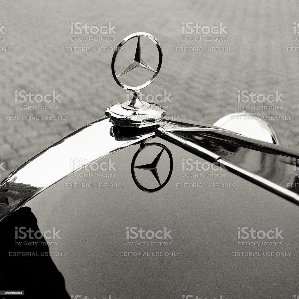 Emblem logo on a Mercedes-Benz 1935 200 stock photo