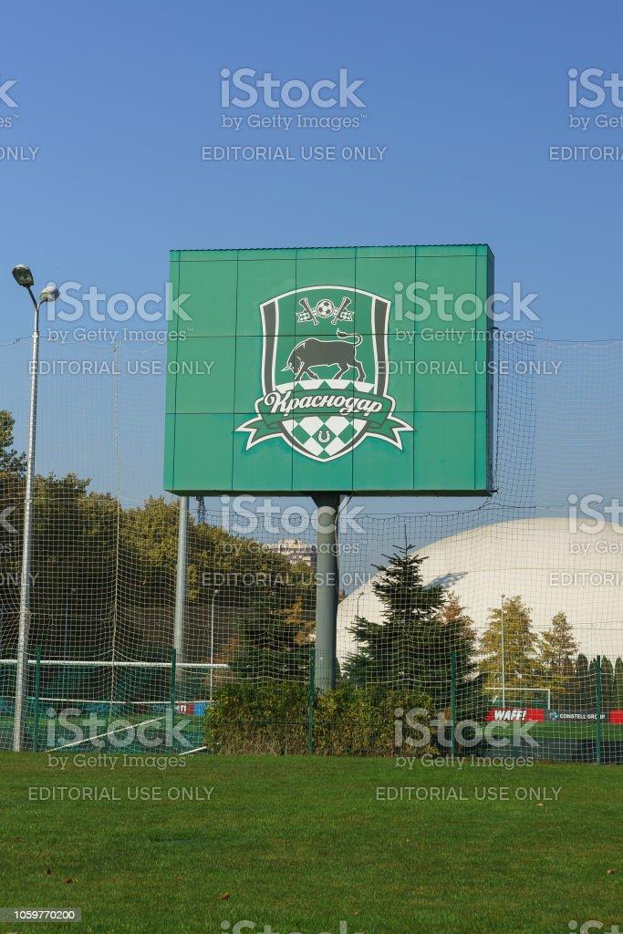 Foto De Emblema Do Fc Krasnodar Perto Do Estadio Em Um Dia De Outono De Sunny E Mais Fotos De Stock De Bola Istock