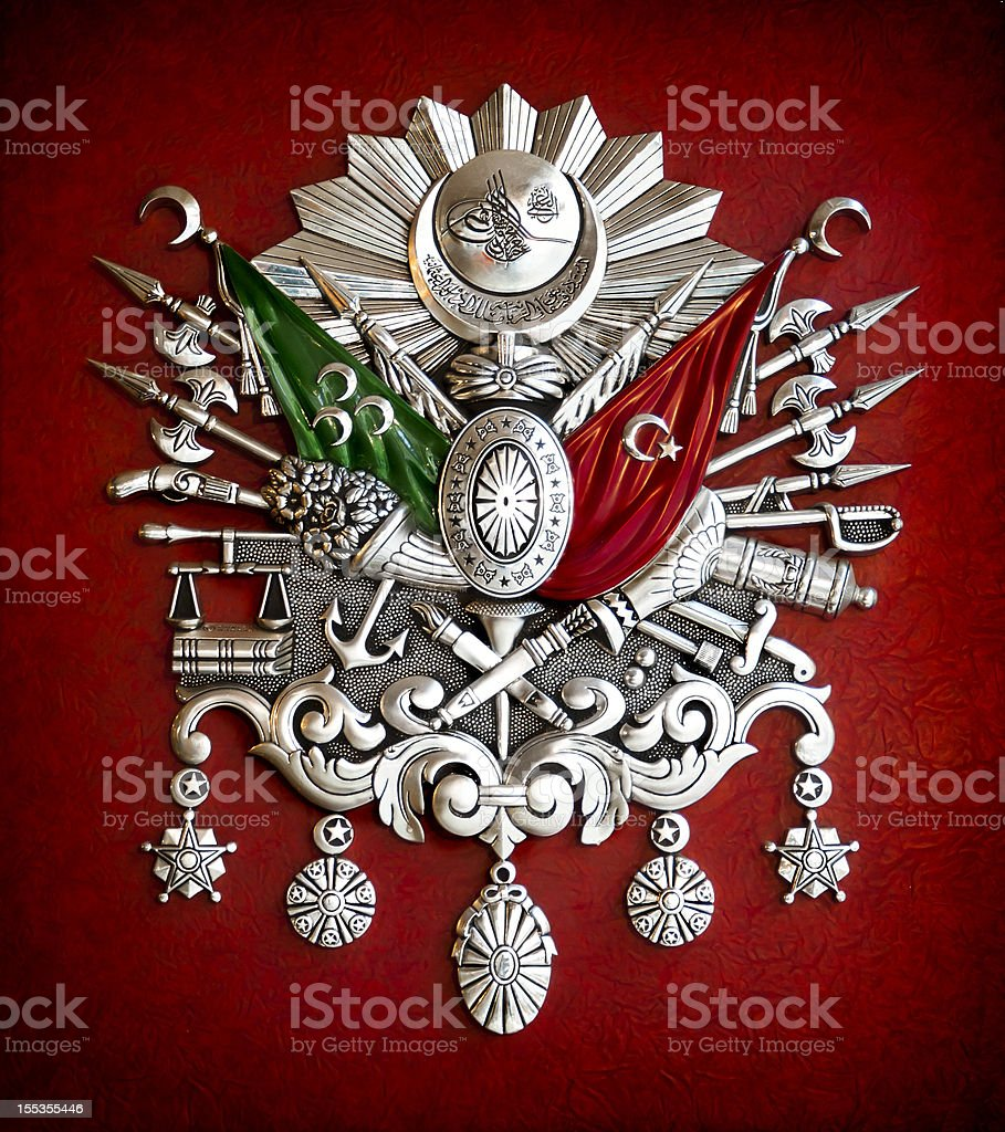 Emblem of Ottoman Empire stock photo