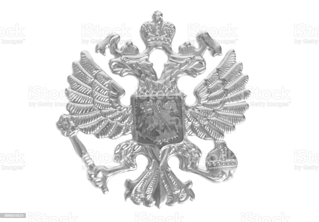 Emblem of Russia stock photo