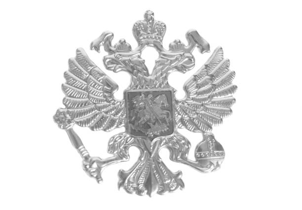 emblème de la russie - filigrane ferronnerie photos et images de collection