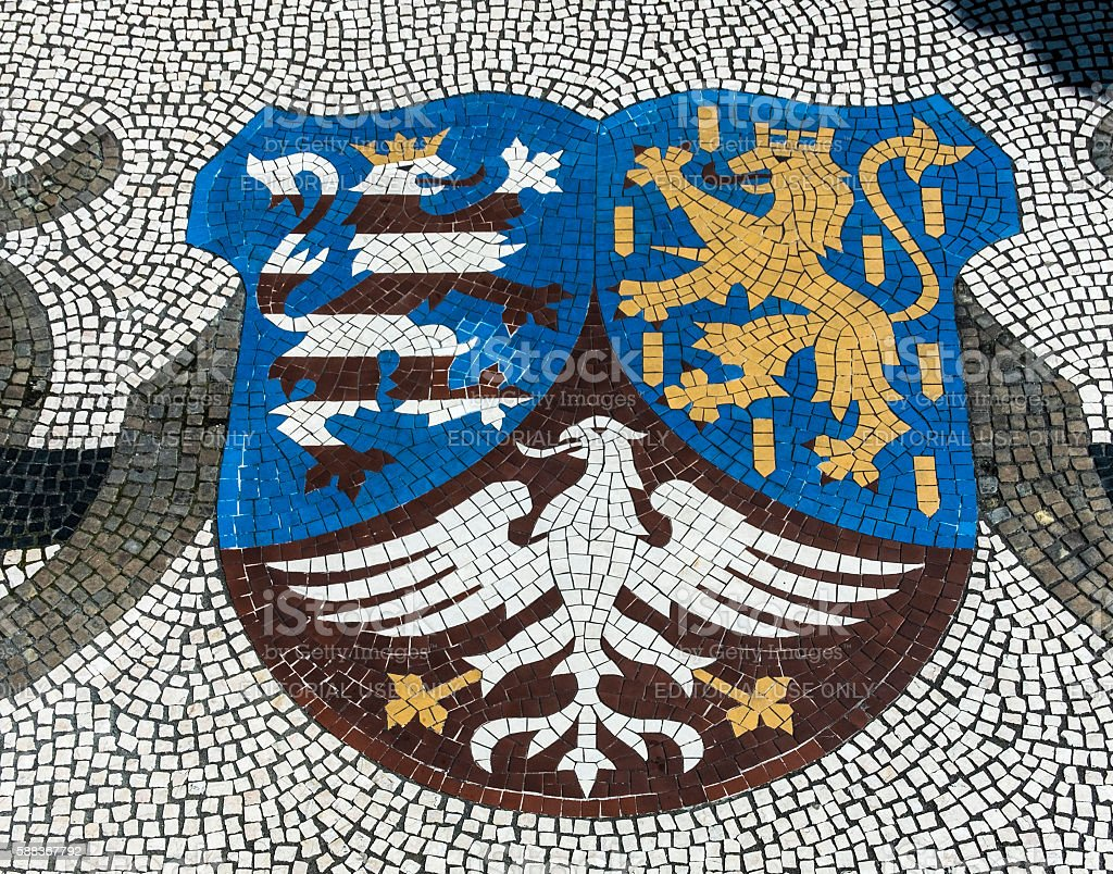 emblem of state of Hesse stock photo