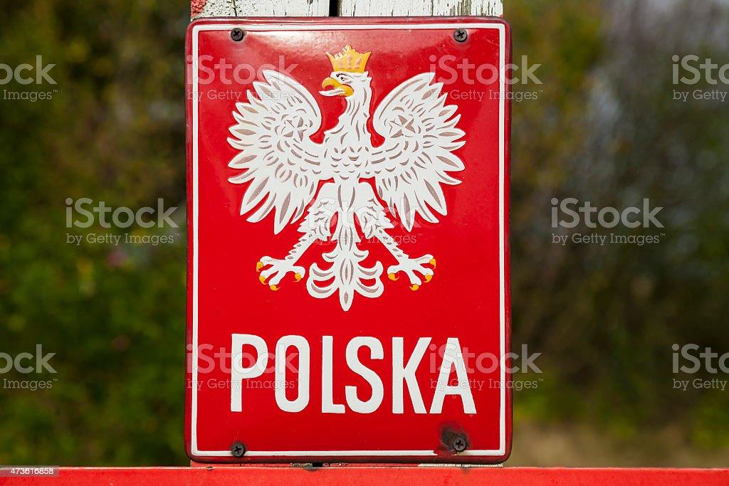 Emblem of the Poland. stock photo