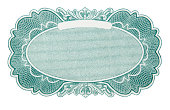 Blank design emblem from antique stock certificate.To see more stock certificates click on the link below: