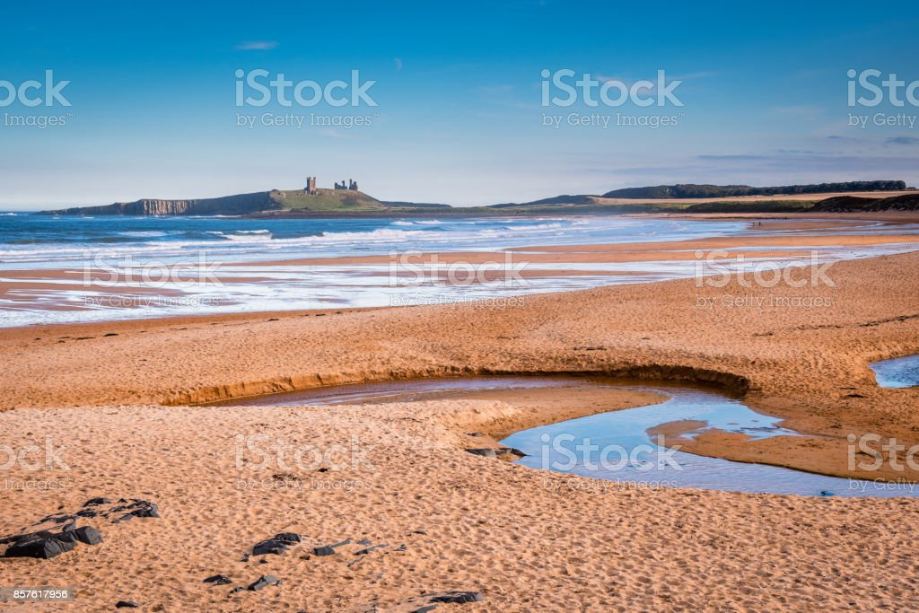 Embleton Bay and Burn stock photo