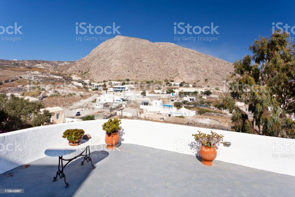 Emborio Porch View, Santorini royalty-free stock photo