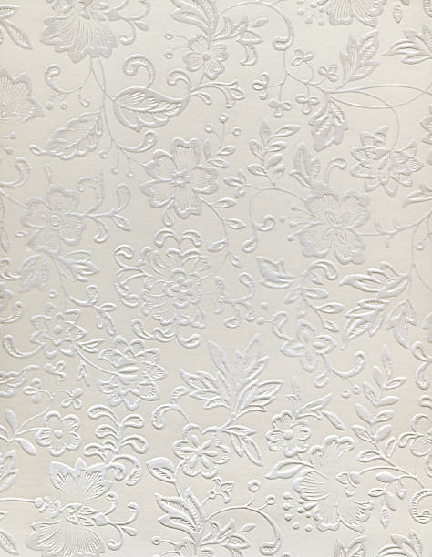 Embossed floral design of a wedding pattern stock photo