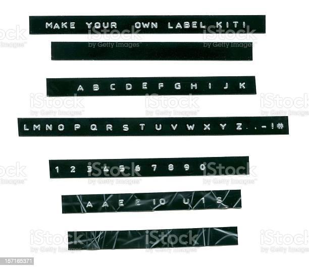 Embossed label letters kit picture id157165371?b=1&k=6&m=157165371&s=612x612&h=fu7klksvxru1acepta42kc7f9ilrmfg4hcgysxvmv4a=