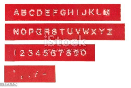 istock Embossed Lettering 171211205