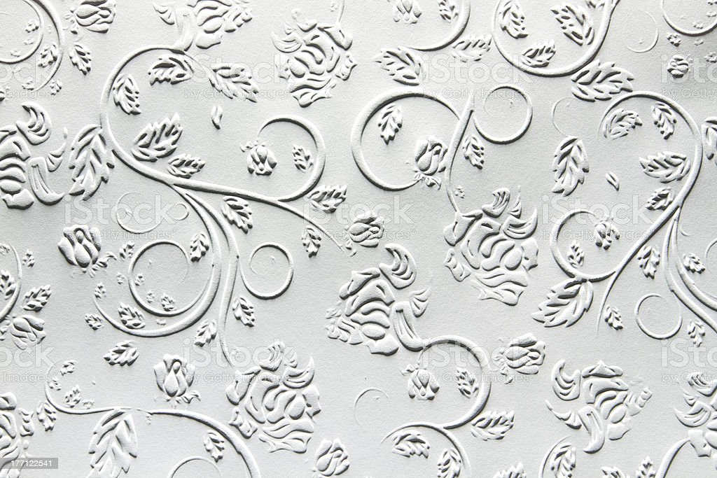 Embossed Paper with traditional design stock photo