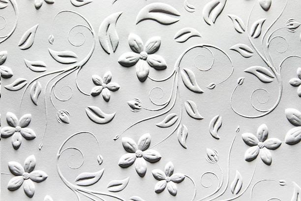 geprägtem papier mit traditionelle design - brokat stock-fotos und bilder