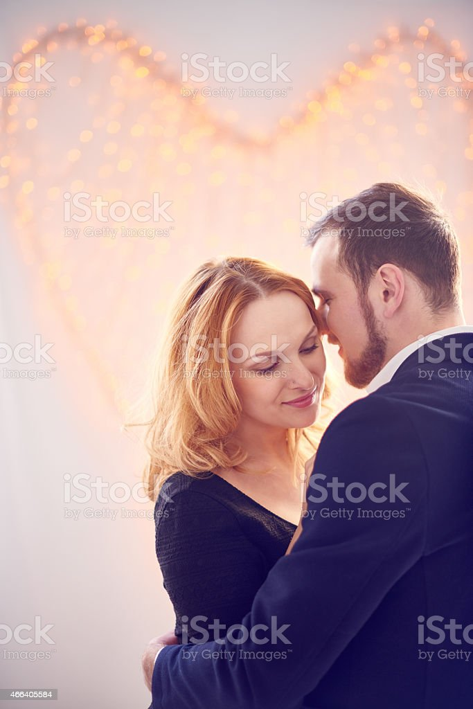 Embrace of love stock photo