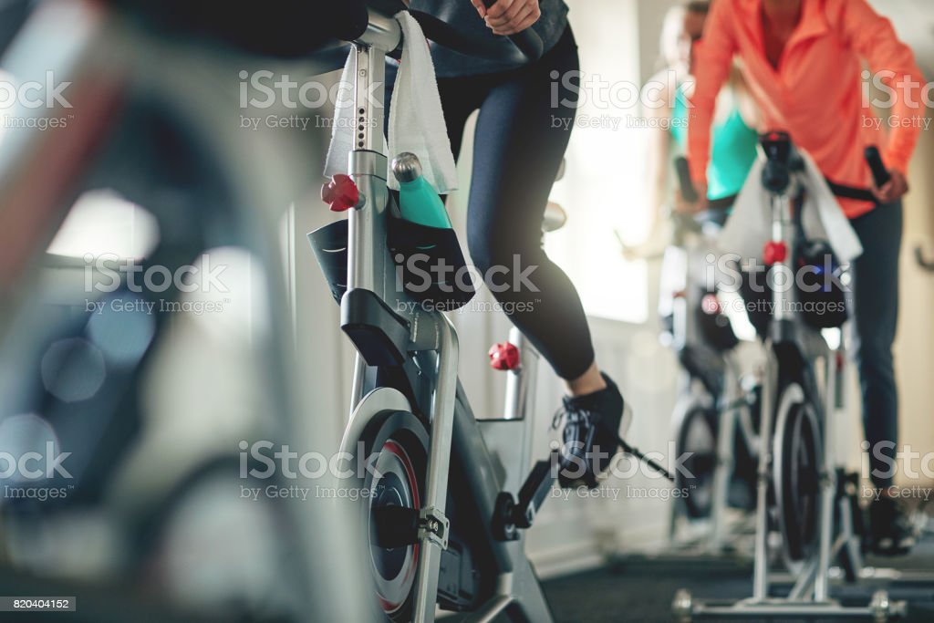 Embrace the power of a bike stock photo