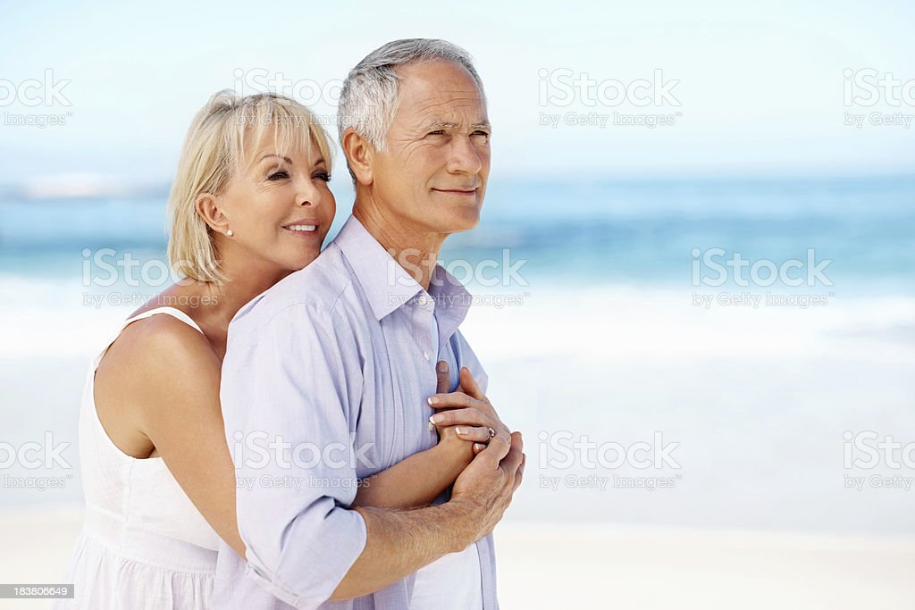 Embracing couple royalty-free stock photo