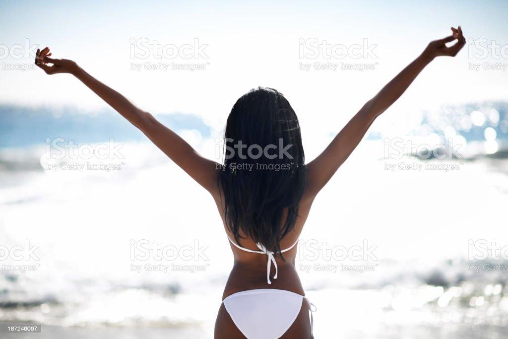 Embracing freedom royalty-free stock photo