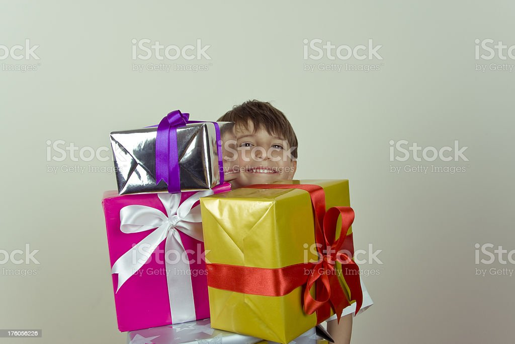 Embracing Gift Box Series royalty-free stock photo